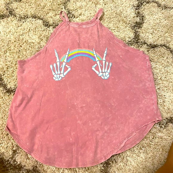 Xl tie dye pink tank top
